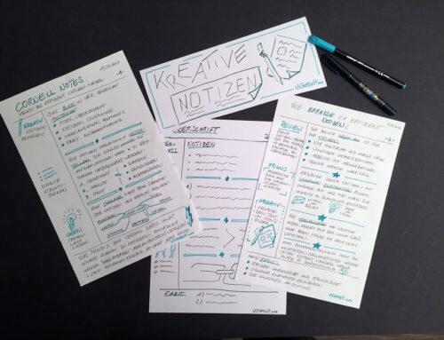 Kreative Notizen – Mit kleinen Tricks zu effizienteren Notizen