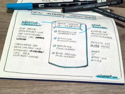 Aufgaben Wochenplaner 2steps VitaminP.info