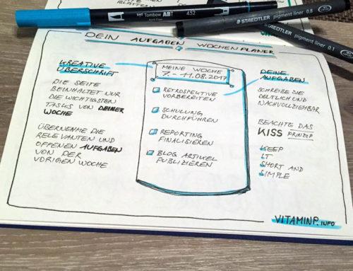 Aufgaben Wochenplaner – Deine Aufgaben der Woche auf einen Blick