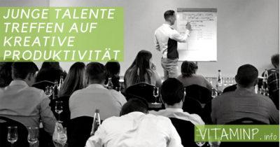 Junge Talente treffen auf kreative Produktivität Titel VITAMINP.info