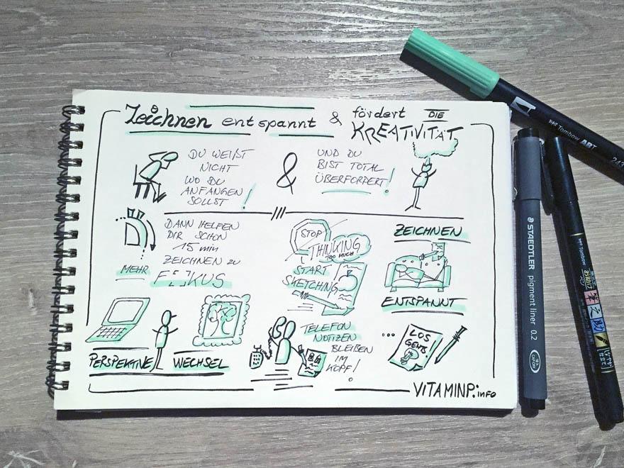Zeichnen entspannt und fördert die Kreativität - VITAMINP.info