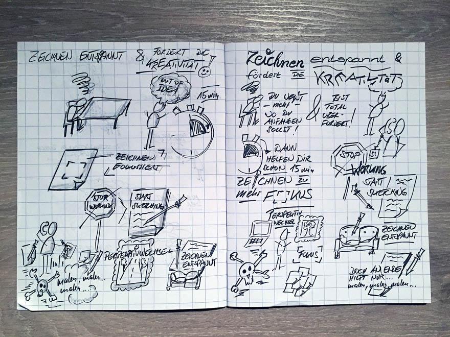 Zeichnen entspannt und fördert die Kreativität - Entwurf - VITAMINP.info