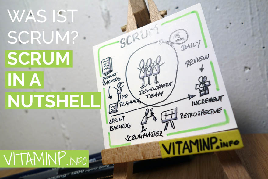 Was ist Scrum - Title - Sketchnote - VITAMINP.info