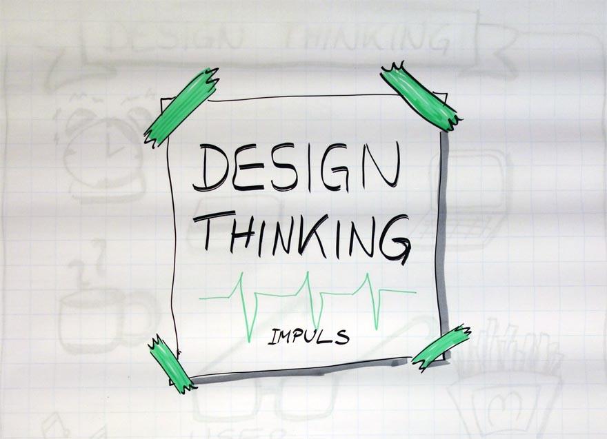 DesignThinking Impuls Titel Sketchnote VITAMINP.info