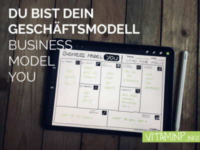 Du bist dein Geschäftsmodell - Business Model You - Titel - Sketchnote - VITAMINP.info