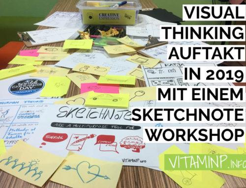 Visual Thinking Auftakt in 2019 mit einem Sketchnote Workshop