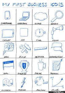Deine Visual Business Sketchnotes - Matrix-Template - VITAMINP.info