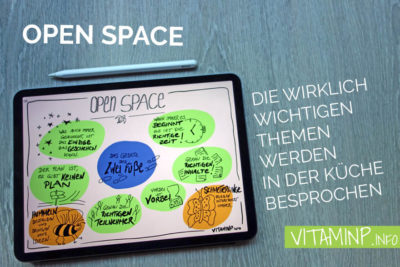 Open Space - Titelbild - Sketchnote - VITAMINP.info